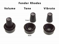 Fender Rhodes reproduction suitcase knobs
